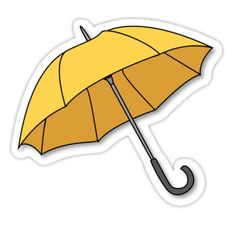 """Yellow Umbrella "" Stickers by Bubble Stickers, Phone Stickers, Journal Stickers, Cool Stickers, Printable Stickers, Cartoon Stickers, Tumblr Sticker, Tumblr Yellow, Cute Umbrellas"