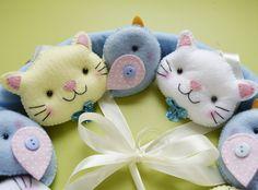 Móbile gatos e passarinhos