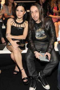 Lacuna Coil (Cristina & Andrea) at the John Richmond SS12 show