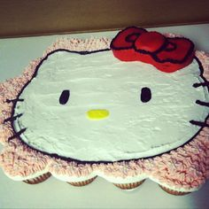 Brooklyn's Birthday Hello Kitty Cupcake Cake