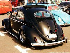 Iron cross wheels, third brake light! Slammed Vw beetle Oval