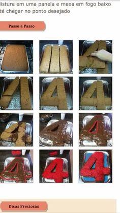 Bolo número 4 cake number 4