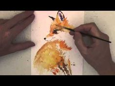 How to paint a little fox in watercolours - YouTube