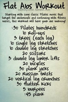 Workouts from a dancer