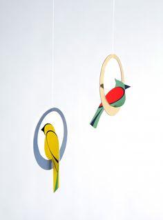 Studio ROOF - Pop out Card - Swinging Birds