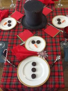 Snowman Tablescape for Kids of All Ages (1 to 101)!