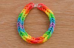 Rainbow Road Rainbow Loom Fishtail Bracelet