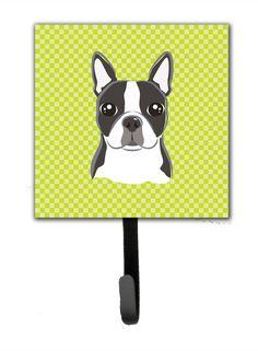 Checke Boston Terrier Wall Hook