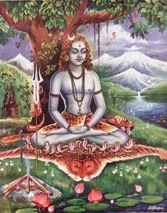 Yogi Gorakhnath in samadhi Gorakshanath (also known as Gorakhnath) was an to century Nath yogi, connected to Shaivism as one of the two most important disciples of Matsyendranath, the other. Arte Shiva, Shiva Art, Hindu Art, Mahakal Shiva, Hare Krishna, Krishna Art, Lord Shiva Painting, Krishna Painting, Om Namah Shivaya