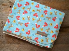 Extra Large Woodland Animals Flannel Receiving by yeSweetheart