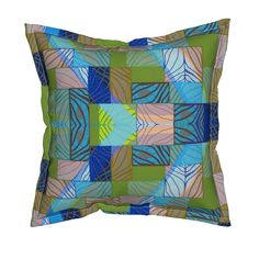 "Serama Throw Pillow featuring ""Blue Light Peeking Through"" by elizabethvitale 