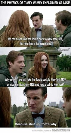 Doctor who. The doctor doesn't take cabs, shut up. Dr Who, Geeks, Crossover, Serie Doctor, Zack E Cody, 11th Doctor, Doctor Whi, Twelfth Doctor, Don't Blink