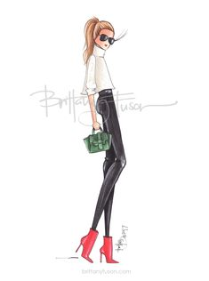 Christmas party dressing | cozy sweaters | fashion illustration | Brittany Fuson