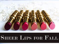 By Taye Hansberry - Stuff She Likes Fall Lip Color.. Sheer is the way to go.. http://www.stuffshelikes.net