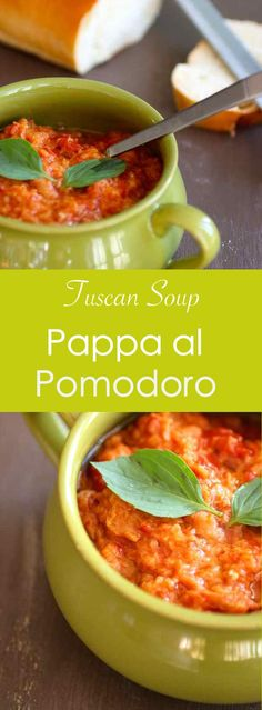 Pappa al pomodoro is a traditional Tuscan thick soup prepared with ripe tomatoes, Tuscan bread and basil. #196flavors