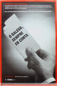 [A Mesa pola Normalización Lingüística, 2005] Cards Against Humanity, Proposal, Nail, Santiago De Compostela, Poster