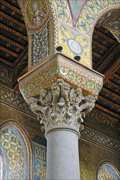Mosaic Arches in a Sicily - Monreale Cathedral