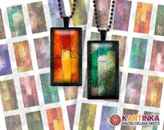 Instant Download BRICK SHOW - 1x2 inch Dominos Digital Collage Sheet - Printable Download - for resin glass pendants magnets