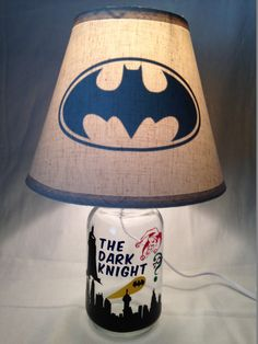 Mason Jar Lamp   Batman Influenced