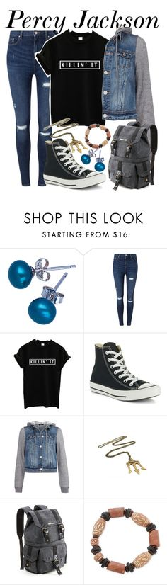"""""""Percy Jackson  Percy Jackson and the Olympians """" by bubbly-bookworm ❤ liked on Polyvore featuring Don't AsK, Miss Selfridge, Converse, Dex and NOVICA"""
