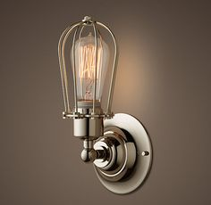 Marconi Caged Sconce - Polished Nickel