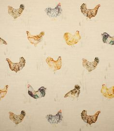 Save 20% on our Linen Chook Chook Traditional Fabric from Voyage Decoration; perfect for creating Curtains & Blinds.