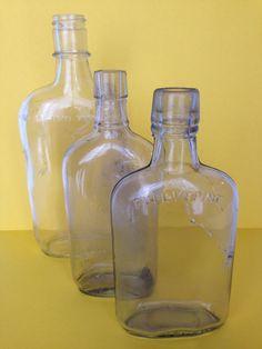 Lot of Three #Vintage Glass #Bottles antique by wonderfulathome