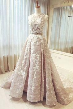 Charming Prom Dress,A Line Lace Prom Dress,Long Prom