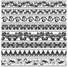 vector de patrón de encaje clásico