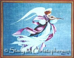 My finished Angel of Spring.  Pattern from Lavender & Lace.