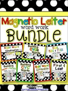 An entire YEAR of magnetic letter Word Work centers! Sight words, sounds, long & short vowels, blends, digraphs and more! $