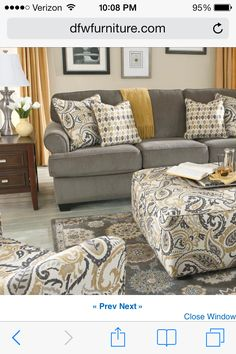 Grey couch. Love!