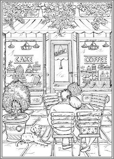 Bienvenue chez Dover Publications - coloring pages Printable Adult Coloring Pages, Cute Coloring Pages, Disney Coloring Pages, Free Coloring, Coloring Sheets, Coloring Books, Dover Coloring Pages, Dover Publications, Color Activities
