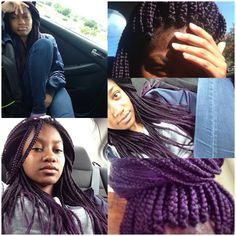 ... on Pinterest Purple box braids, Crochet braids and Purple highlights