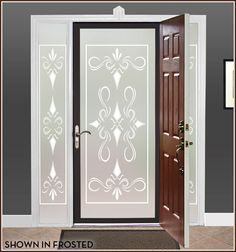 Privacy Door and Window Film South Beach, 6 Colors | Wallpaper For Windows
