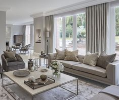 "1,747 Likes, 37 Comments - Sophie Paterson (@sophiepatersoninteriors) on Instagram: ""Bright and spacious living room at the Wentworth project #livingroom #lounge #interiors…"""