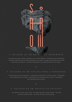 Posters for TAIOM by Rafael Bessa, via Behance