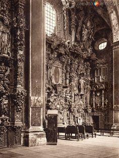 Fotos de Tepotzotlán, México, México: Interior de la Iglesia de Tepotzotlán (circa 1920)