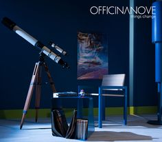 Meet David. Yeah, we know: he's not there. Currently, he's on the balcony watching the winter comets in the sky. But when he's in, he watches the stars sitting on our chair: Walter.  (You thought Walter was your friend's name? It's also the chair designed by our Filippo Franchi ➜ http://www.officinanove.it/en/walter/)