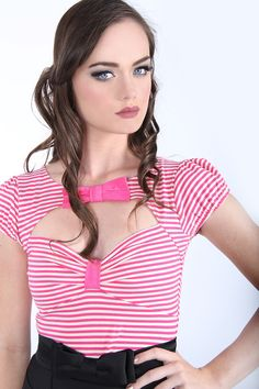 Paris in Spring Bow Top (Pink) Beautiful Paris, Beautiful Women, Paris In Spring, Cool Outfits, Fashion Outfits, Bow Tops, Dress Me Up, Vintage Inspired, Kitten