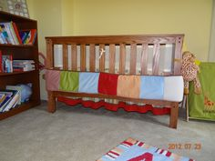 An idea for repurposing your crib bumper......tie around the outside as decoration and to protect baby from getting hurt crawling or walking around the crib.