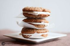 Homemade Oatmeal Cream Pies - Sooo much better than store bought.  I make them for gifts every year.