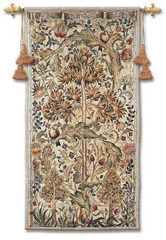 William Morris Quince Tree Tapestry Wall Art Bringing nature inside to decorate our walls was a classic vision of works woven by William Morris and this concept has not lost any of it's charm, today.