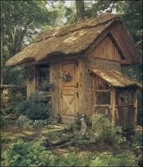 Garden shed?A place to dream? Just a cute tiny house! Would love this as a garden shed esp. with dutch door Witch Cottage, Cozy Cottage, Cottage Style, Rustic Cottage, Shabby Cottage, Gazebos, She Sheds, Thatched Roof, Thatched House