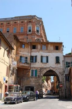 I love all of the crazy arches in Perugia, Italy.