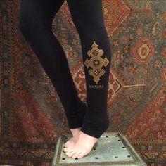"""Datura Henna"" Thick Leggings / Rachel Brice's Somewhat International Online Bazaar"