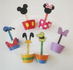 Cupcakes wraps y toppers Mickey y sus amigos. #Disney ·#Mickey