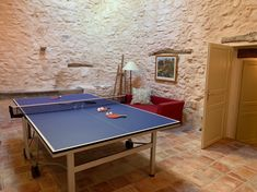 Games room in the old stable