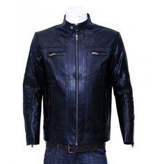 Designer Black Biker Leather Jacket