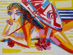 La plage - 116 x 89 cm - Huile sur toile